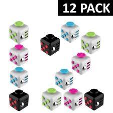 eXuby Fidget Cube (12 Pack) \u2013 Randomly Assorted Colors - Toys For Kids eXuby: