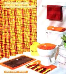 brown bath rug set orange and brown bathroom decor orange bathroom set top orange bath rugs