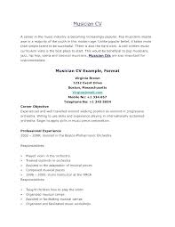Musicians Resume Template Musical Theatre Resume Template Theater