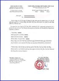 Bunch Ideas Of Vietnam Visa Approval Letter Fancy Letter To Apply