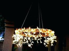 candle chandeliers non electric outdoor chandelier garden hanging