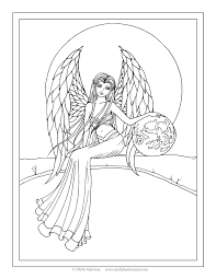 Free Angel Coloring Page By Molly