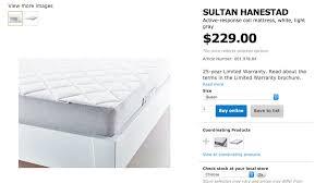 ikea sultan mattress price. Beautiful Sultan IKEA Sultan Hanestad Mattress QUEEN With Ikea Mattress Price