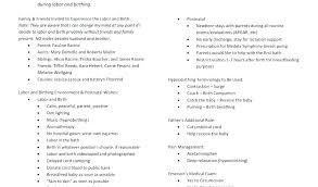 Birth Plan Download Birth Plan Examples Birth Preferences Template Uk Birth