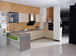 Kitchen Stainless Steel Cabinet With Black Table And Kitchen Island