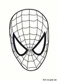 Small Picture Printable Superheroes spiderman maske coloring pages Printable