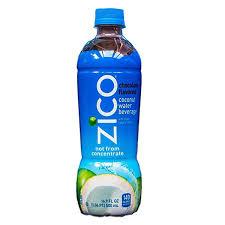 zico pure premium chocolate coconut water 16 9 oz plastic bottles pack of 12