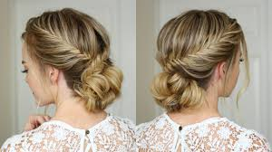 French Braid Updo Hairstyles Fishtail French Braid Updo Missy Sue Youtube