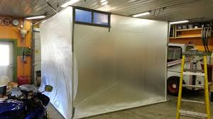 home built diy paint booth plastic sheeting