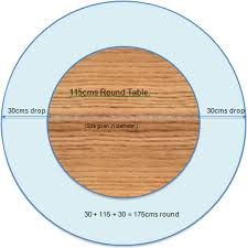 how to measure for round tables