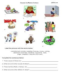 causes effects of stress worksheet eslflow popular resources cause effect home