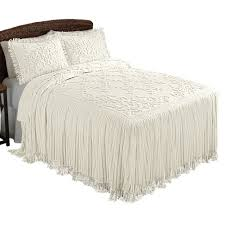 chenille bedspreads queen size. Simple Size Amazoncom Collections Etc Romantic Floral Lattice Chenille Lightweight  Bedspread With Fringe Edging Cream Queen Home U0026 Kitchen With Bedspreads Queen Size L