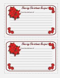 Christmas Recipe Cards Template Refreshing Printable Recipe Cards For Christmas Jeettp