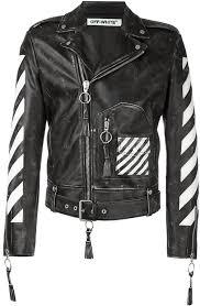 off white arrow print biker jacket