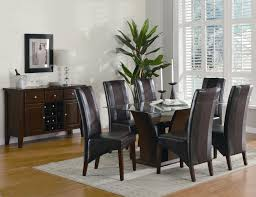 gl top brown table with black chairs for white dining room inexpensive black and brown dining room sets