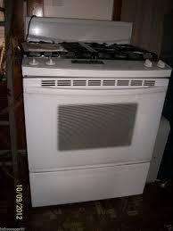 kitchenaid gas range stove white euc on popscreen
