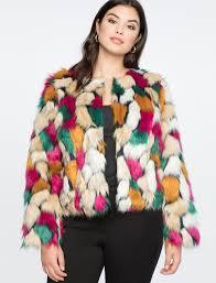cropped faux fur coat