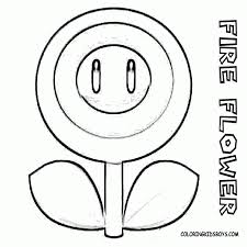 Imagespace Mario Flower Coloring Pages Gmispacecom