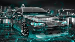 toyota mark2 jzx0 jdm effects crystal city car