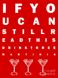 Eye Chart Poster Free Eye Exam Chart If You Can Read This Drink Three Martinis Red Poster