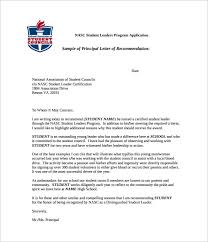 Student Letter Of Recommendation Sample High School Recommendation