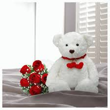 white teddy bears with hearts and roses. Delighful White White Teddy Bears With Hearts And Roses  Photo4 With Teddy Bears Hearts And Roses B