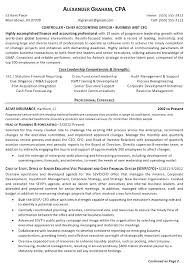 Account Resume Samples Resume Sample Controller Page 1 Accounting
