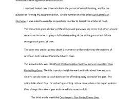 gun control essays sample english essay summary on gun control anti gun control paper josh hughes