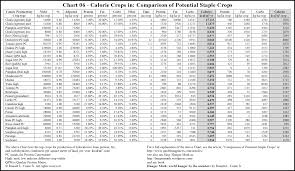 Calories Chart In Different Food Items Gardening Nutrition And Food Storage Articles