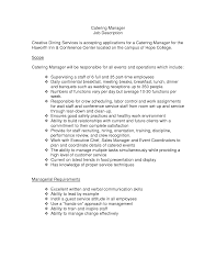 Catering Job Description For Resume  breakupus unusual babysitting     Catering Resume  waitress resume objective resume template waiter       catering job description