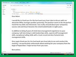 Awesome Collection Of Sample Email Thank You Letter After Interview