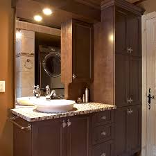 cuisines beauregard bathroom with solid wood cabinets and ceramic countertop