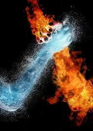 best fire and ice images fire magick and blue  water fire hands