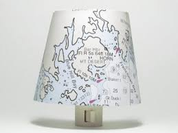 Nautical Chart Holder Down East Maine Nautical Chart Night Light The Orange