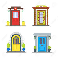 christmas front door clipart. Shocking Cartoon Color Front Door Of House Icon Set Urban Architecture Picture Clipart Ideas And Styles Christmas S