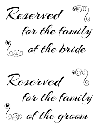 Reserved Signs Templates For Reserved Signs Templates Template Ideas