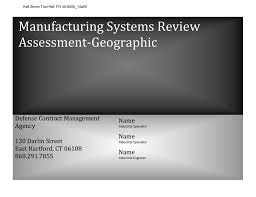 Manufacturing Systems Review Assessment Checklist