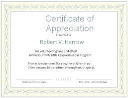 Free Appreciation Certificate Templates Word Certificate Of
