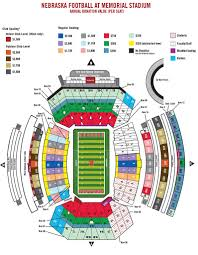 Illinois Seating Chart Football Nebraska Football Season Ticket Map University Of Nebraska