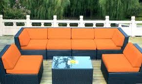 outdoor furniture with cushions elegant black wicker patio sofa set orange decoration sunbrella replacement custom
