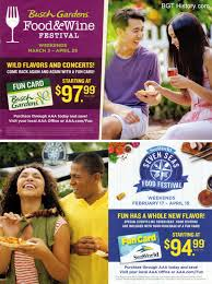 aaa living march april 2018 this full page ad promoted the food wine festival at busch gardens and the seven seas food festival at seaworld orlando