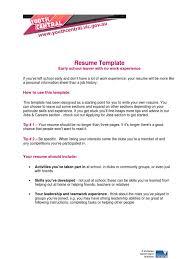 Resume Early School Leaver No Exp Resume Volunteering