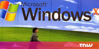 the Windows XP default wallpaper came ...