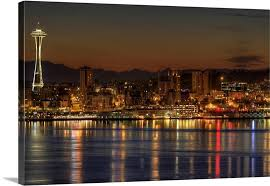 impressive ideas seattle wall art modern home skyline with space needle on puget sound from alki on seattle wall art prints with valuable ideas seattle wall art modern decoration design arts print