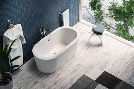 maykke harrow 59 inches modern oval acrylic bathtub