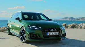 New Audi RS4 Avant Sonoma Green driving footage - YouTube