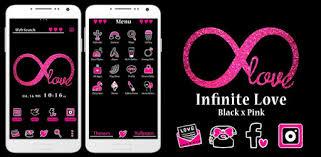Glitter Wallpaper <b>Infinite Love</b> Black x Pink Theme - Apps on Google ...