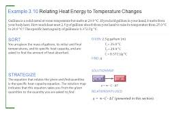 example 3 10 relating heat energy to temperature changes