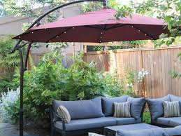 an outdoor patio umbrella