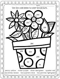 Money Coloring Worksheets Coins Counting Money Coloring Pages ...